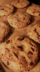 chocolate chip cookies met Olivarera Olijfolie